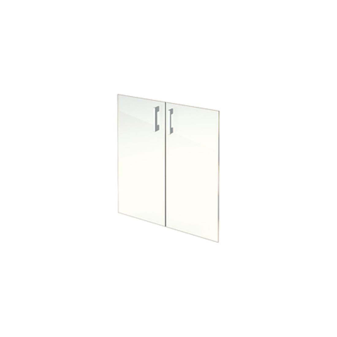 Комплект стеклянных прозрачных дверей А-302.СФ (710х4х760)