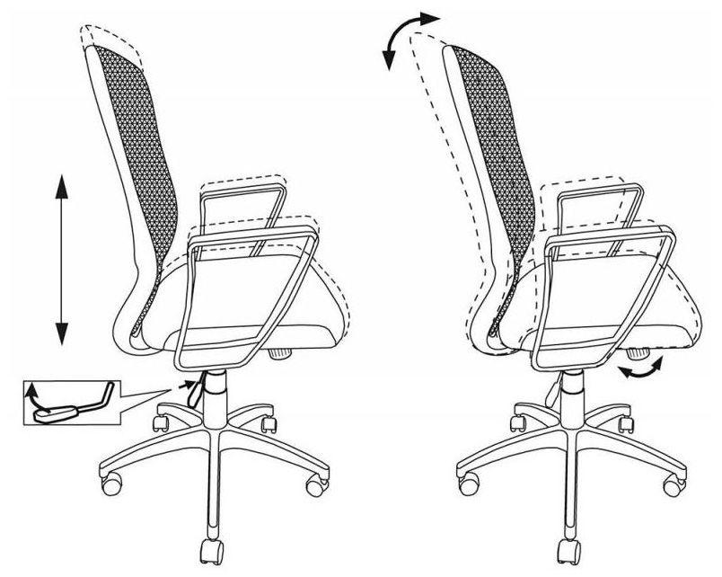 Кресло Бюрократ CH-899 черный TW-01 сиденье черный TW-11 сетка/ткань крестовина пластик
