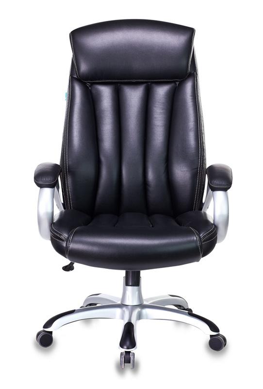 Кресло руководителя Бюрократ T-9922/BLACK-PU черный искусственная кожа (пластик серебро)