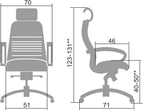 Кресло metta SAMURAI KL-2.03