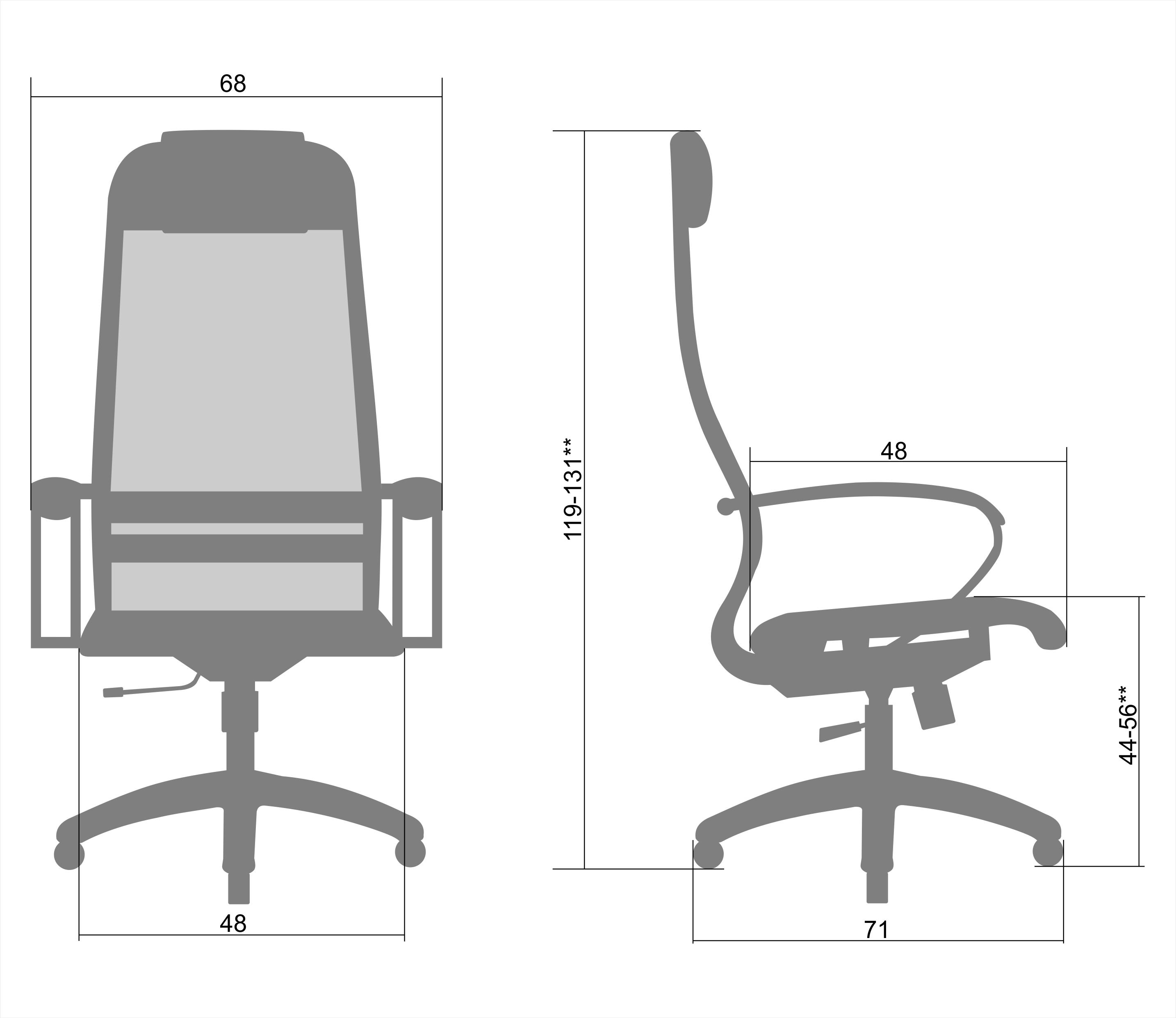 Кресло metta SU-1-BK Комплект 6