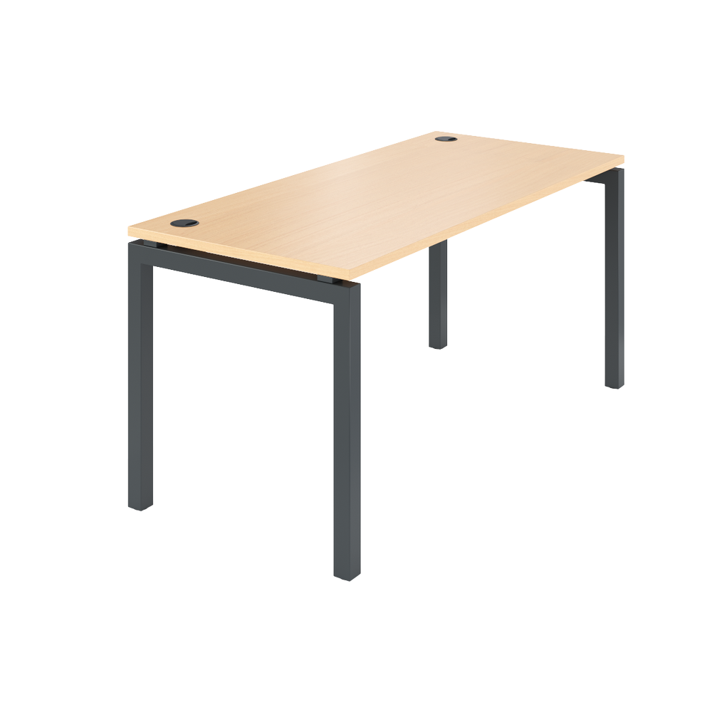 Стол на металлокаркасе АМ-004 (1600х730х760) бук