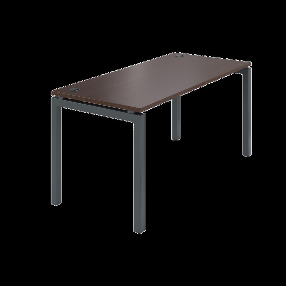 Стол на металлокаркасе АМ-004 (1600х730х760) дуб венге
