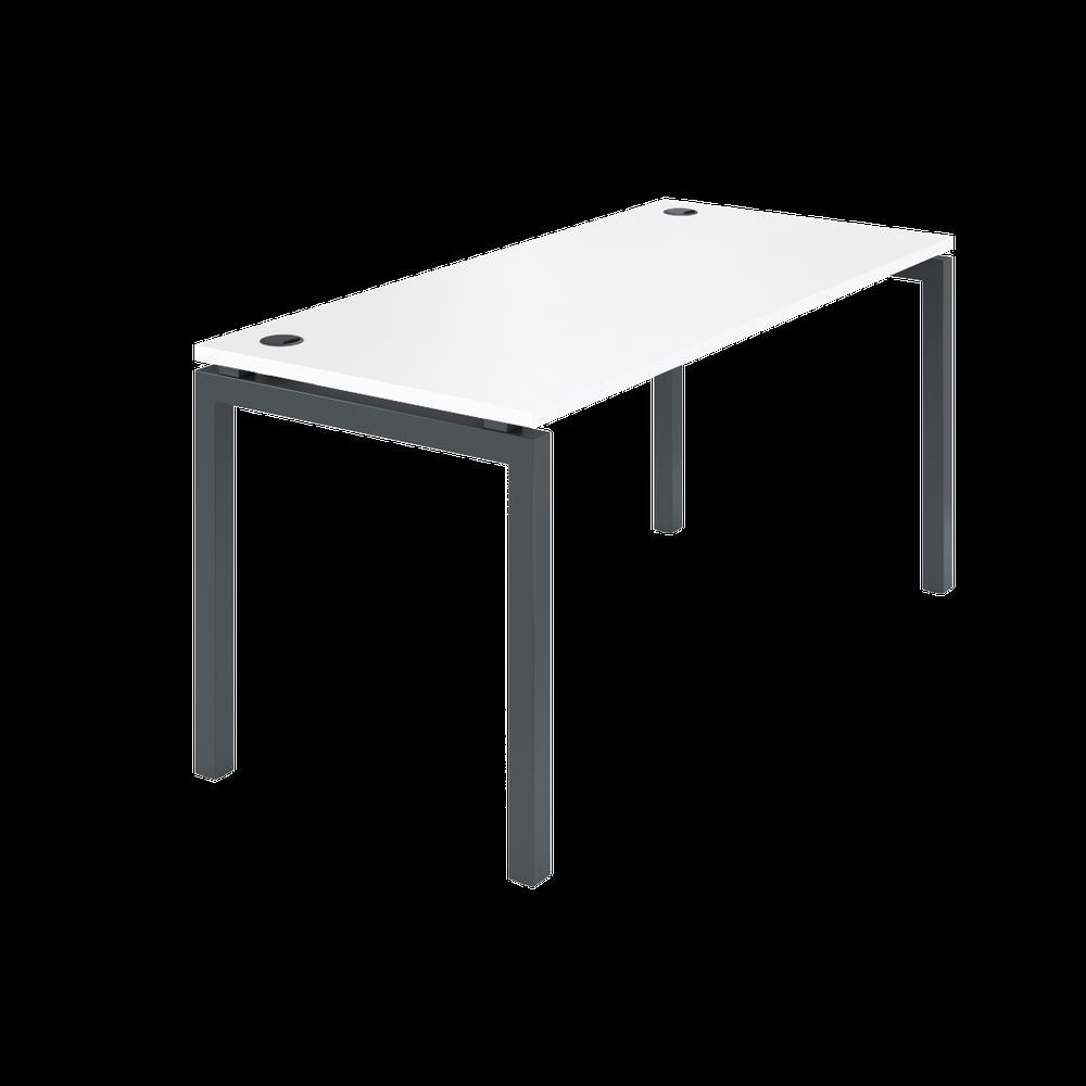Стол на металлокаркасе АМ-004 (1600х730х760) белый