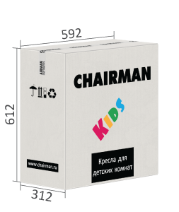 Кресло детское CHAIRMAN KIDS 103 black (Фудбол)