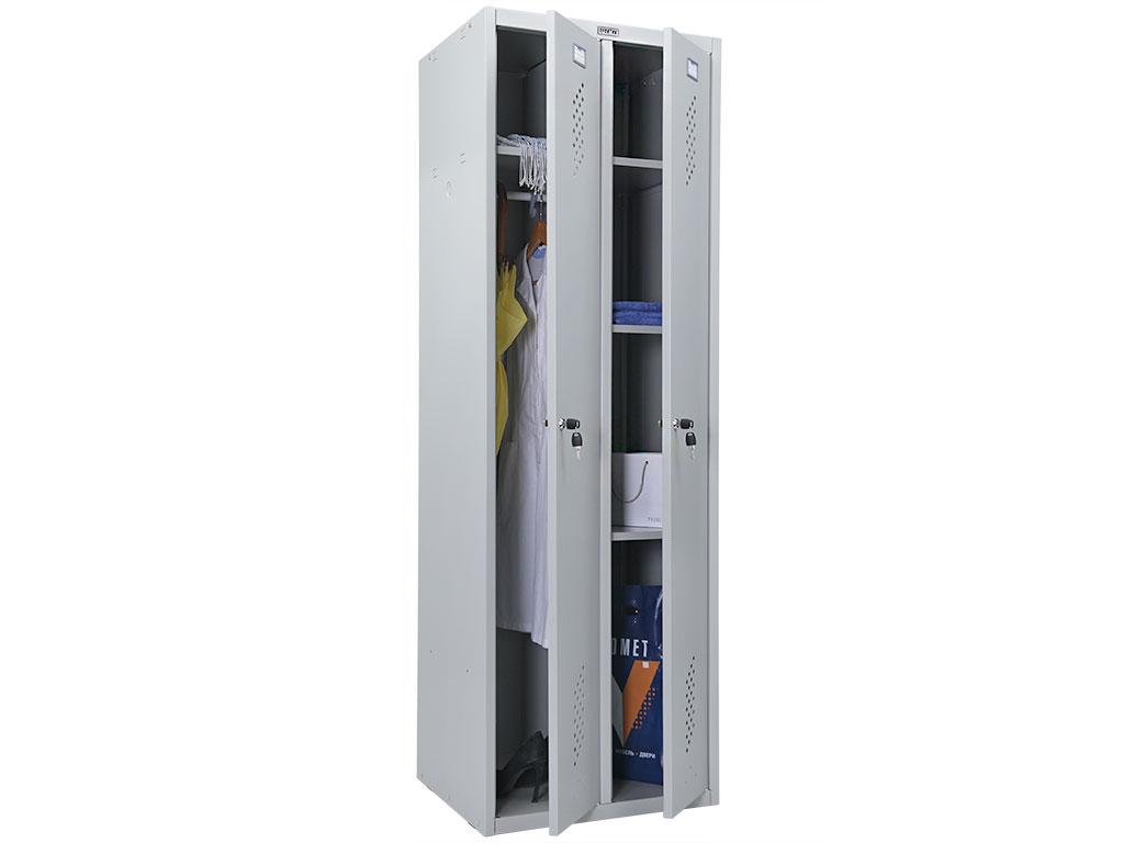 Шкаф металлический для хоз. инвентаря и одежды  ПРАКТИК LS-21 U