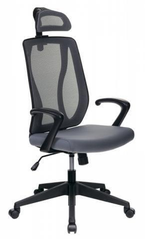 Кресло руководителя Бюрократ MC-411-H/DG/26-25 серый TW-04 сиденье серый 26-25 сетка/ткань
