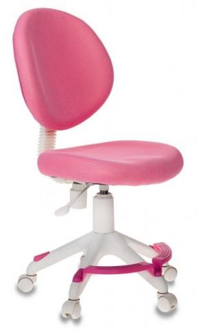 Кресло детское Бюрократ KD-W6-F розовый (пластик белый)