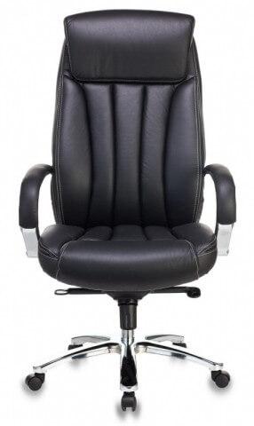 Кресло руководителя Бюрократ T-9922SL/BLACK черный кожа крестовина хром