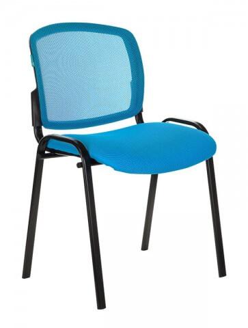 Стул Бюрократ ВИКИ/ГОЛ спинка сетка TW-31 сиденье голубой TW-55