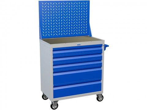 Инструментальная тележка ПРАКТИК WDS-5 (синяя, 5 ящиков)