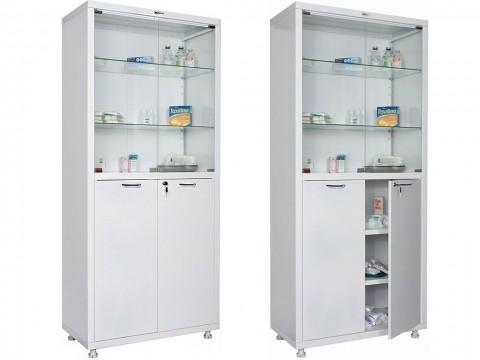 Шкаф медицинский для медикаментов HILFE МД 2 1780/SG