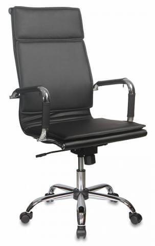 Кресло руководителя Бюрократ CH-993/BLACK черный искусственная кожа крестовина хром