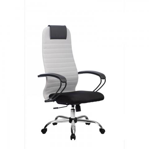 Кресло руководителя МЕТТА BP-10 светло-серный