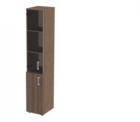 Шкаф закрытый узкий высокий стеклянный К-932 + К-973 Ф.+ К-982 С.Ф. (360х420х2000). Гарбо.