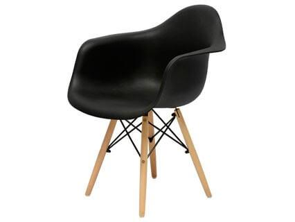 Кресло Barneo N-14 WoodMold, черный
