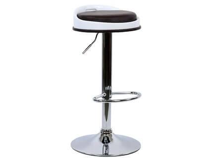 Барный стул Barneo N-49 Pin темно-коричневая кожа