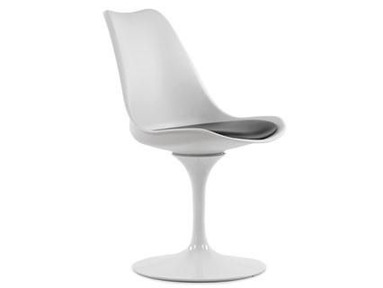 Стул Barneo N-8 Tulip style, белый с черной подушкой