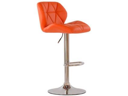 Барный стул Barneo N-85 Diamond оранжевая кожа