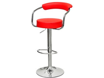Барный стул Barneo N-91 Orion красная кожа