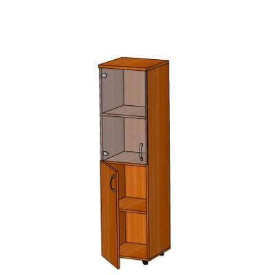ЛФ-229 Шкаф узкий, низкий, со стеклом 400х400х1610