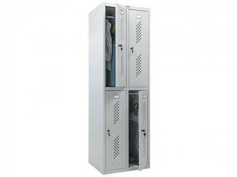 Шкаф для раздевалки металлический ПРАКТИК LS-22