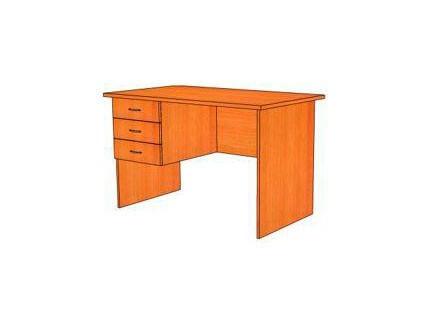 Стол письменный с 3 ящиками (левый) КОНТИНЕНТ СФ215