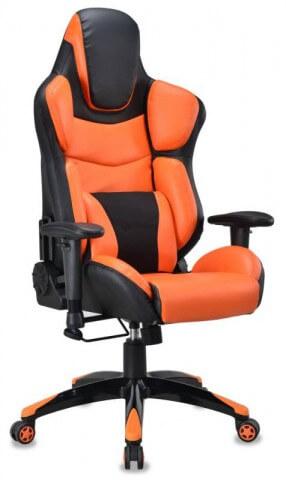 Кресло игровое Бюрократ CH-773/BLACK+OR одна подушка