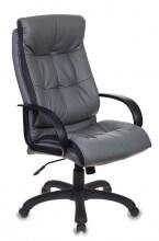 Кресло для руководителя Бюрократ CH-824B/LGREY серый искусственная кожа