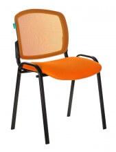Стул Бюрократ ВИКИ/ОРАНЖ спинка сетка TW-38-3 сиденье оранжевый TW-96-1