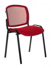 Стул Бюрократ ВИКИ/КР спинка сетка TW-35N сиденье красный TW-97N