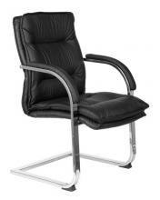 Кресло руководителя Бюрократ T-9927SL-LOW-V/BLACK на полозьях черный кожа