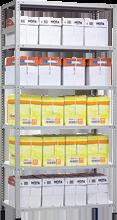 Металлический стеллаж Standart  MS 2550х1500х600 - 6 полок