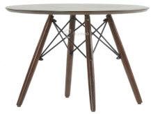 Журнальный стол Barneo Eames, высота 43-47см, диаметр столешницы 60см