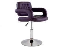 Полубарный стул Barneo N-135 Gregor фиолетовая кожа