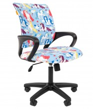Кресло детское CHAIRMAN KIDS 103 black (единорог)