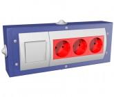 Блок Электророзеток для слесарного верстака