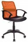 Кресло CH-590 OR, BLACK спинка сетка оранжевый сиденье черный искусственная кожа