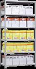 Металлический стеллаж Standart  MS 2550х1500х500 - 6 полок