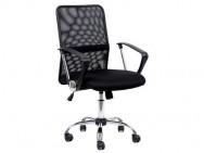 Кресло Barneo K-147 для персонала, черная ткань/сетка
