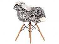 Кресло Barneo N-14 Patchwork Eames style, черно-белый