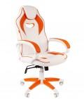 Кресло для геймеров  CHAIRMAN GAME 16 WHITE (оранжевое)