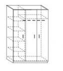 Шкаф гостиничный для Одежды ШО 001. ЛДСП (1248*584* h2000)mm