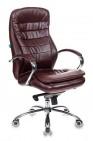 Кресло руководителя Бюрократ T-9950AXSN, BROWN-PU сиденье коричневый искусственная кожа крестовина хром